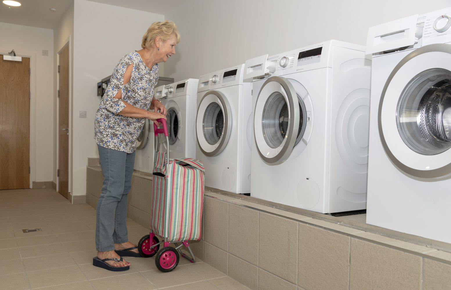 assisted senior living facility laundry equipment