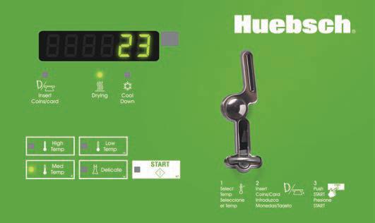 Huebsch On-Premises Tumble Dryer Spec Sheets 25lb