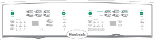Huebsch On-Premises Tumble Dryer Spec Sheets 55lb